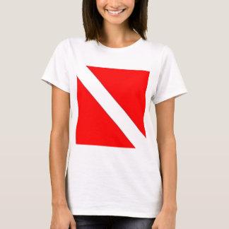 Diver Down Flag design T-Shirt