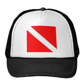 Diver Down Flag design Trucker Hat