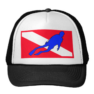 Diver Down Flag Gift Trucker Hat