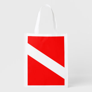 Diver Down Flag Grocery Bag