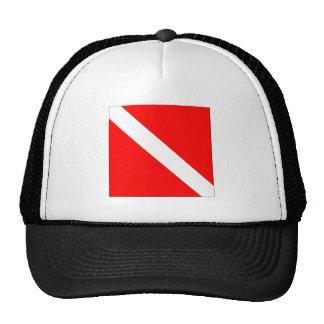Diver Down Flag Trucker Hat