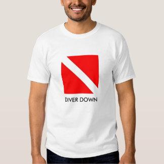 DIVER DOWN FLAG T-SHIRT