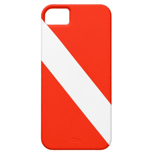 Diver Down Scuba Dive Flag iPhone SE/5/5s Case