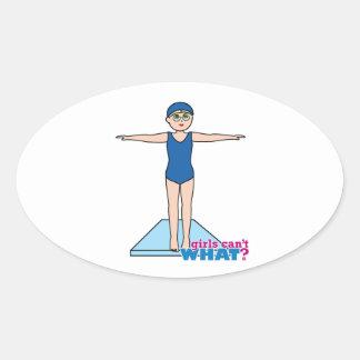Diver - Fair Oval Sticker