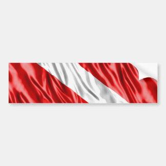 Diver Flag Bumper Sticker