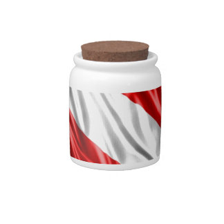 Diver Flag Candy Jars