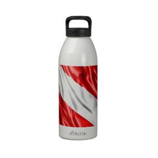 Diver Flag Water Bottle