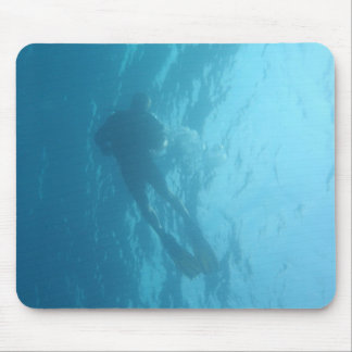Diver from below Mousemat Mouse Pad