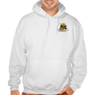 diver logo hooded sweatshirt