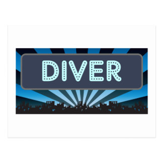 Diver Marquee Postcard