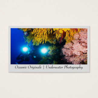 Diver on the Great Barrier Reef Business Card