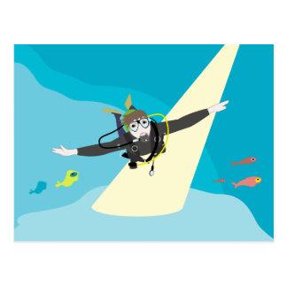Diver Postcard
