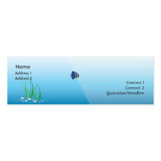 Diver - Skinny Mini Business Card