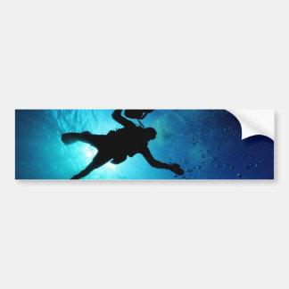 Diver underwater car bumper sticker