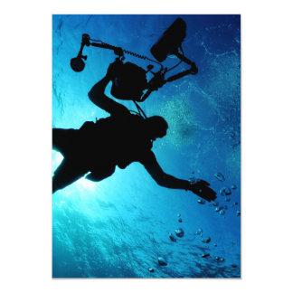Diver underwater card