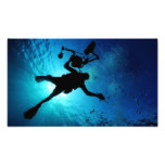 Diver underwater photo print