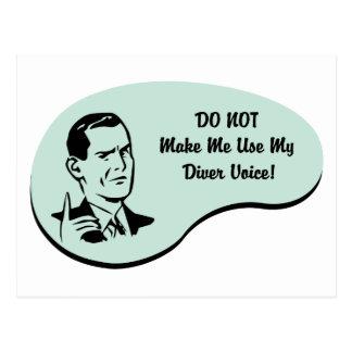Diver Voice Postcard