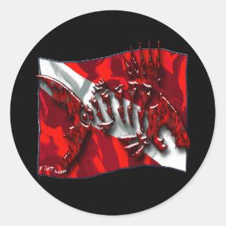 DiverDown Collection Classic Round Sticker