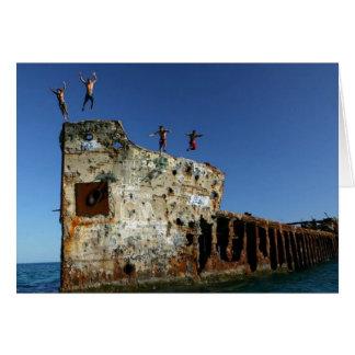 Divers at the SS Sapona, Bimini Islands Card
