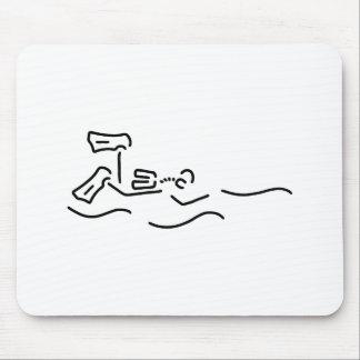 divers dip oxygen mouse pad