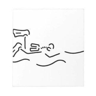divers dip oxygen notepad
