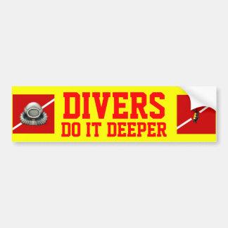 DIVERS DO IT DEEPER BUMPER STICKER