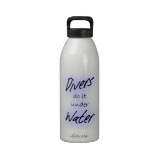Divers do it Under Water - Water Bottle