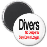 Divers Go Deeper 2 Inch Round Magnet