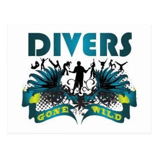 Divers Gone Wild Postcard