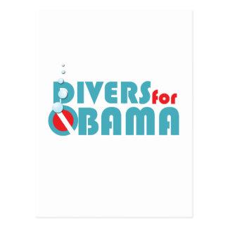 Divers or Obama Postcard