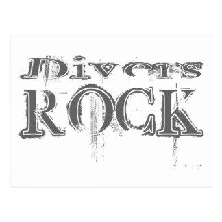 Divers Rock Postcard
