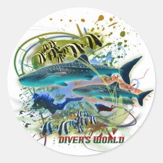 diver's world sticker