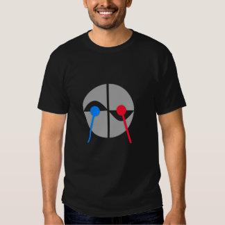 Diversa camiseta del batería playera