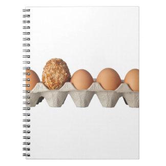 Diversa clase de huevo libretas