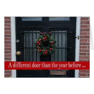 Diversa puerta - el navidad enrruella la nueva tar felicitacion