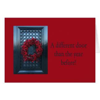 Diversa puerta - el navidad enrruella la nueva tarjeta de felicitación