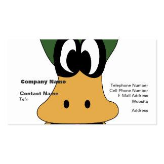 Diversa realidad del pato verde loco del dibujo tarjetas de visita