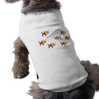 Diversa ropa del mascota de los pescados playera sin mangas para perro