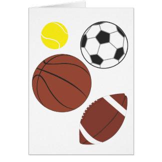 Diversa tarjeta de las bolas de los deportes