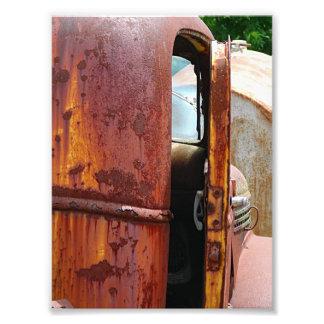 Diversa vista de un camión viejo impresión fotográfica