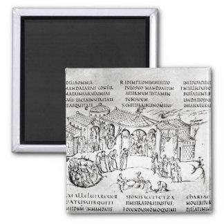 Diversas escenas que ilustran un salmo imán para frigorifico