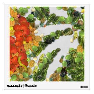 Diversas frutas y verduras vinilo