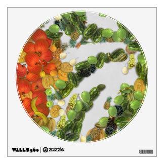 Diversas frutas y verduras vinilo adhesivo