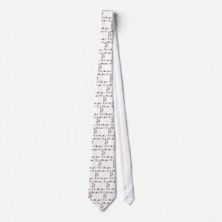 Diversas razas del perro en una fila corbata personalizada