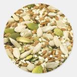 Diversas semillas comestibles etiqueta