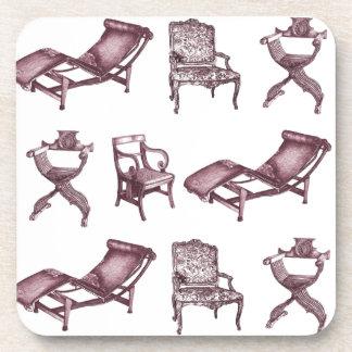 Diversas sillas posavasos