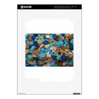 Diversas sombras del azul iPad 3 skins