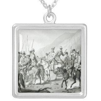 Diversas tribus de los Cossacks rusos Colgante Cuadrado