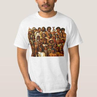 Diversas tribus del collage de los indios del playera