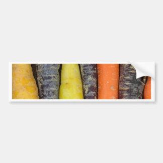Diversas zanahorias coloreadas pegatina para auto